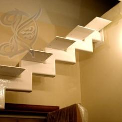 Кованая каркасная лестница модерн ККЛ_21
