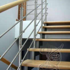 Кованая лестница с перилами ККЛ_5