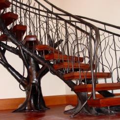 Кованая винтовая лестница КВЛ_18