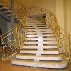 Кованая винтовая лестница КВЛ_19