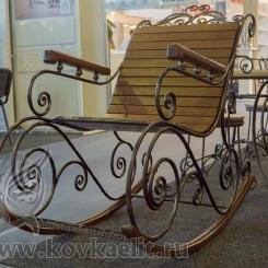 Кованое кресло качалка КК_12