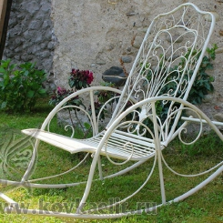 Кованое кресло качалка КК_15