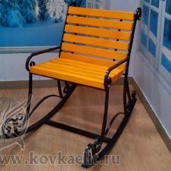 Кованое кресло качалка КК_16