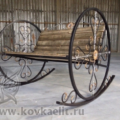 Кованое кресло качалка КК_19