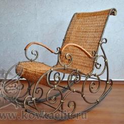 Кованое кресло качалка КК_1