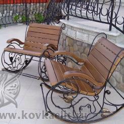 Кованое кресло качалка КК_21