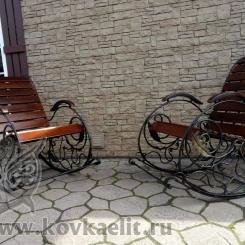 Кованое кресло качалка КК_22