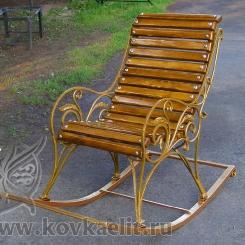 Кованое кресло качалка КК_3