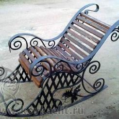 Кованое кресло качалка КК_6