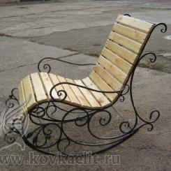 Кованое кресло качалка КК_7