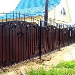 Кованый забор КЗ_38