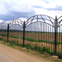 Кованый забор КЗ_42