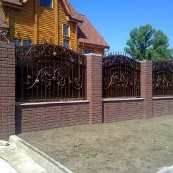 Кованый забор КЗ_21