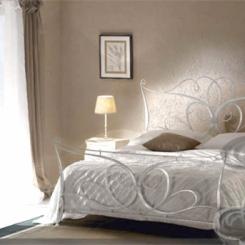 Кованая кровать белая КК_4