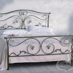 Кованая кровать черного цвета КК_20