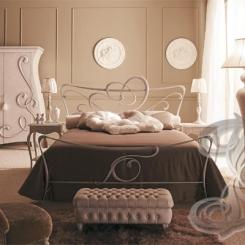 Кованая кровать белого цвета КК_29