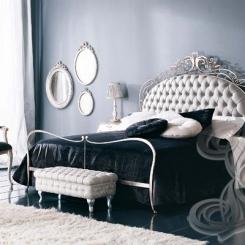 Кованая кровать с мягкой спинкой КК_31