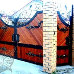 Кованые ворота распашные КВ_113