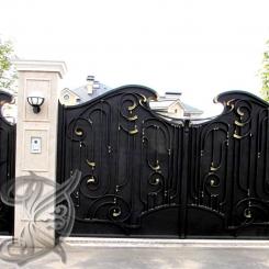 Кованые ворота распашные КВ_114