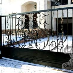 Кованые ворота откатные КВ_119