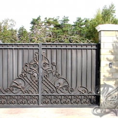 Кованые ворота откатные КВ_120