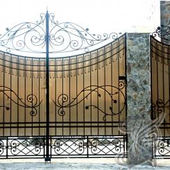 Кованые ворота распашные КВ_112