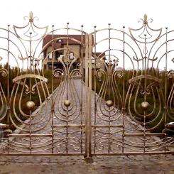 Кованые ворота распашные КВ_111