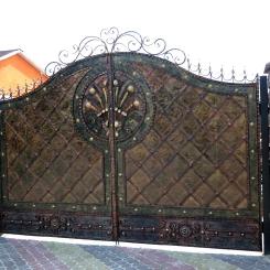 Кованые ворота КВ_35