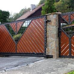 Кованые ворота КВ_41