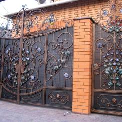 Кованые ворота КВ_44