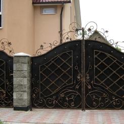 Кованые ворота КВ_49