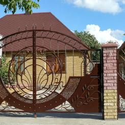 Кованые ворота КВ_78