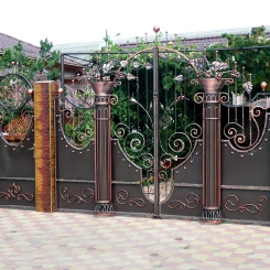 Кованые ворота КВ_83