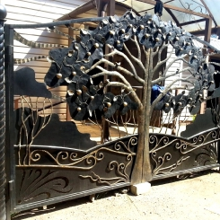 Кованые ворота КВ_89