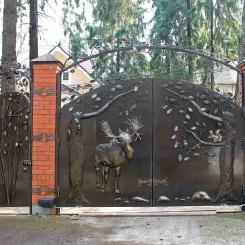 Кованые ворота КВ_91
