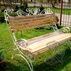 Кованая скамейка для дачи КС_3