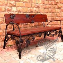Кованая скамейка для сада КС_2