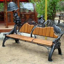 Кованые скамейки КС_34