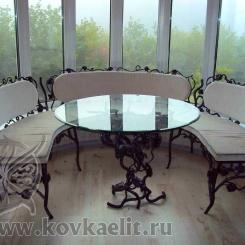 Кованый стол и стулья КСС_15