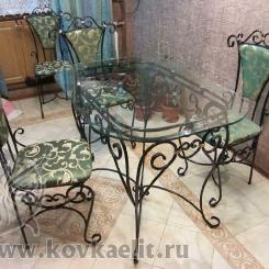 Кованый стол и стулья КСС_1