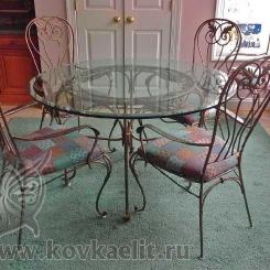 Кованый стол и стулья КСС_2
