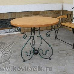 Кованый стол и стулья КСС_36