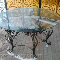 Кованый стол и стулья КСС_38