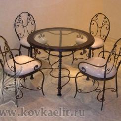 Кованый стол и стулья КСС_3