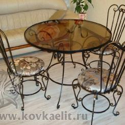 Кованый стол и стулья КСС_4