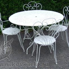 Кованый стол и стулья КСС_6