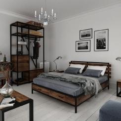 Кованая кровать LOFT_13