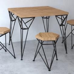 Металлический стул для обеденной зоны LOFT_11