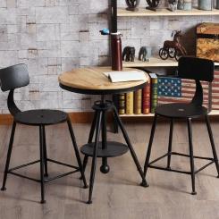 Металлический стул со спинкой LOFT_16