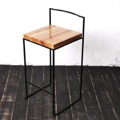 Барный стул квадратный со спинкой LOFT_22